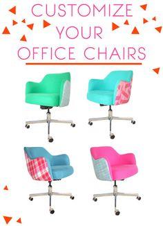 Customizing vintage chairs - Emily Henderson Mobiliario y Sillas de Oficina