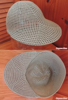 U - the Knitted Hats - the Country of Moms - Hilda Maria Goulart Ribeiro - - . U - the Knitted Hats - the Country of Moms - Hilda Maria Goulart Ribeiro Crochet Diy, Crochet Motifs, Hand Crochet, Crochet Stitches, Crochet Patterns, Crochet Ripple, Crochet Hat With Brim, Knitted Hats, Crochet Hats