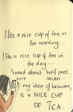 Tea all day long....perfect!