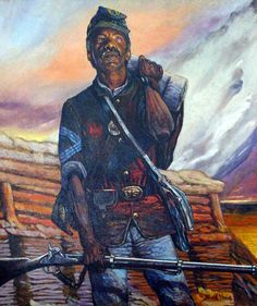 Buffalo Soldiers Paintings and Art - Bobb Vann. $150.00