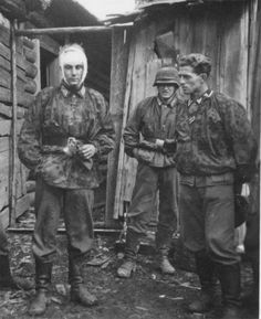 Soldiers of the Finnish 5th Waffen-SS Division Wiking.