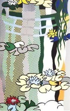 Roy Lichtenstein (1923-1997). Water Lilies with Jpanese Bridge Art