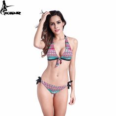 Swimwear Women 2016 Print Floral Swimsuit Push Up Bikini Set Bathing Suits  Brazilian Bikinis Women Swimwear Beach Wear Biquini-in Bikinis Set from  Sports ... 565c8216d087b