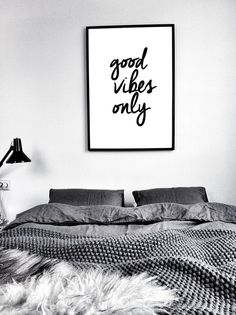 Printable Quote Poster Good Vibes Only by ILovePrintable on Etsy