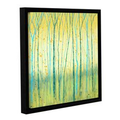 ArtWall 'Turquoise Forest III' by Herb Dickinson Framed Painting Print on Wrapped Canvas Size: