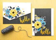 Happy Wednesday!  It's time for this week's new Color Throwdown Challenge!I'm loving the color combo we have for our CTD challenge this week with the yellow, blue and black.  So much so that I created