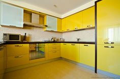 Image Of Yellow Kitchen Cabinets Ideas Design