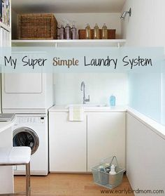My Super Simple Laundry System | Household