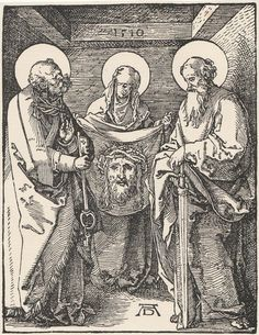 The Sudarium of St Veronica - Small Passions Engraving After Albrecht Durer #22 #Impressionism