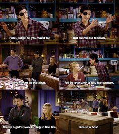 haha, Monica got ice in her eye and kisses her ex-boyfriend's son. Happy Thanksgiving!