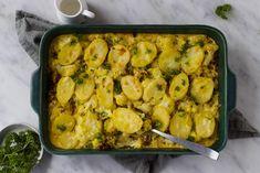 Vegetarische bloemkool-kerrie ovenschotel met aardappel