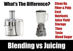 Here is the difference between juicing and blending including both pros and cons. Healthy juice may, or may not, contain pulp which makes the processes different. Healthy Juices, Healthy Snacks, Home Recipes, Snack Recipes, Juicing Benefits, Clean Up, Food Preparation, Eating Well, Fiber