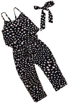Jarsh Toddler Kids Baby Girl Sleeveless Backless Denim Ruffles Romper Jumpsuit Summer Clothes