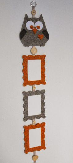 Diy idea how to make tutorial sew pattern photo holder Felt Crafts Diy, Fabric Crafts, Sewing Crafts, Arts And Crafts, Handmade Frames, Handmade Felt, Diy Photo Frame Cardboard, Felt Gifts, Crafts For Seniors