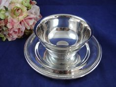 Oneida Silver Plate Gravy Boat Chip and Dip Serving Bowl - Elegant Serving Piece by SecondWindShop on Etsy