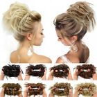 UK Thick Messy Bun Hair Piece Scrunchie Updo Wrap Hair Extensions Real as human Messy Bun Updo, Chignon Updo, Wavy Updo, Clip In Hair Pieces, Bun Hair Piece, Fake Hair Extensions, Nano Titanium, Clip In Ponytail, Messy Hairstyles