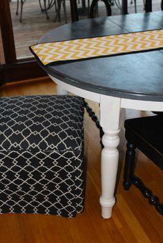 Antsi-Pants: Chalk Paint Kitchen Table    OK, het is zeker. Er moet iets schelen ... het kriebelt om dingen te veranderen. Misschien moet ik onze keukentafel ook eens een facelift geven? :-)