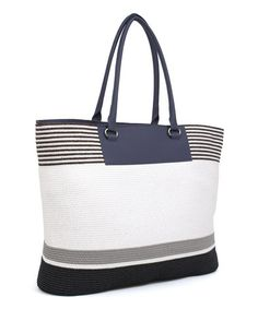 Look what I found on #zulily! Black Stripe Tote by Magid #zulilyfinds