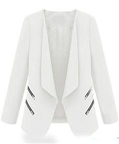 Sheinside� Women's White Long Sleeve…
