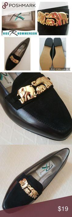 Cute Elephant buckle suede&leather sz 6.5ww flats! Brand new flats,beautiful gold tone elephant buckle,suede upper toe, all leather upper! Ros Hommerson Shoes Flats & Loafers