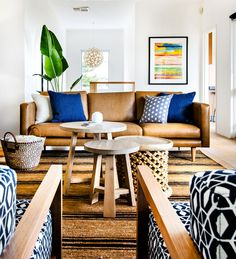 El sofa de cuero perfecto! #estilo #decoración
