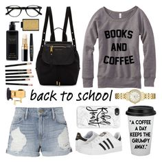 """""""back to school shopping!"""" by stylesbyava ❤ liked on Polyvore featuring Frame, Kate Spade, Marc Jacobs, adidas, Casetify, EyeBuyDirect.com, Victoria's Secret, Chanel, NYX and Buxom"""