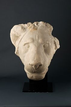 Head of a lion  Period:     Late Period–Ptolemaic Period Date:     400–300 B.C. Geography:     Country of Origin Egypt; (none assigned Medium:     gypsum plaster