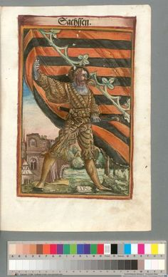 Colour Plate: German State Banners:  Duchy of Saxony