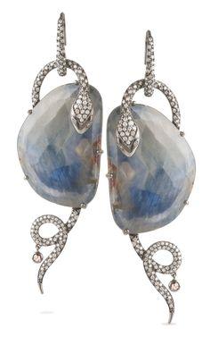 Shop Bochic Blue Sapphire Serpent Earrings
