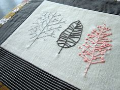 trees embroidery piece