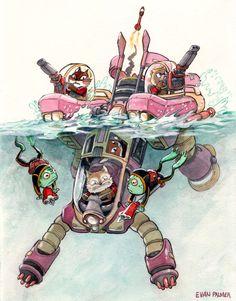 Animal Mechs Illustrations by Evan Palmer