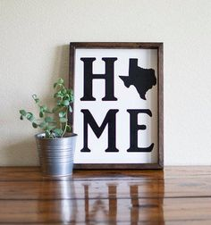 Texas gifts, Texas home decor, Texas sign, state sign, moving gift Texas Bedroom, Going Away Presents, Texas Signs, Texas Home Decor, Texas Kitchen, Moving To Texas, Moving Gifts, Texas Homes, Great Housewarming Gifts