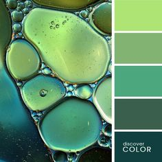 light green, green, dark green