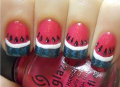 Holy Manicures: Watermelon Nails.