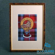 Clan MacTavish Crest and Tartan Framed