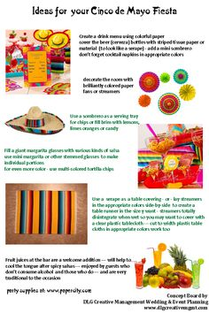 Ideas and inspirations for Cinco de Mayo from DLG Creative Management Wedding & Event Planning