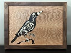 ROA inspired crow scroll sawed wood Saw Wood, Home Inc, Scroll Saw, Crow, Wood Art, Wood Crafts, Street Art, Woodworking, Photo And Video