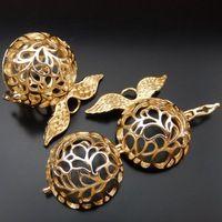 39664 Золотая Роза Латунь Hollow Крыло Ангела Медальон Fit Ожерелье Прелести Кулон DIY Поиск 1 ШТ.