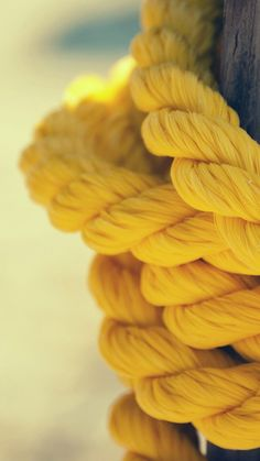 Yellow Rope Close Up #iPhone #6 #plus #wallpaper