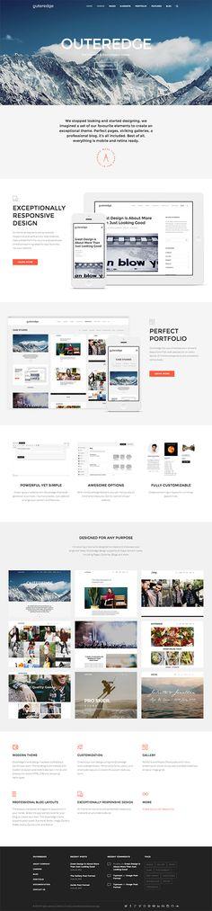 Outeredge - Responsive Multi-Purpose Theme #web #design