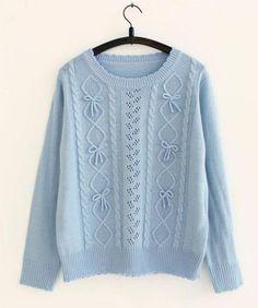 Hollow Soft Sister Bow Lolita Fint AMO Knit Sweater Free shipping - Thumbnail 3