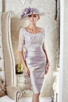 Ian Stuart silk dupion and beaded metallic dress, available in lilac gold/metallic, grey pearl/metallic and platinum/black. Style 483.  #motherofthebride #wedding #ianstuart #bridal #occasionwear #lilac #dress #metallic #beaded #detailing