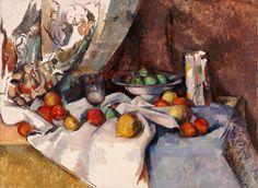 """Cézanne, """"Naturaleza muerta con Manzanas"""". La armonía y colores de la composición dejan en evidencia a este genio de la pintura."""