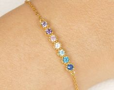 Mothers Day Bracelet Birthstone For Mom