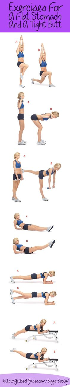 exercises for a flat stomach and a tight butt #strong #fitness #flatbelly