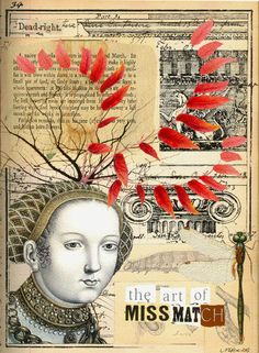 ⌼ Artistic Assemblages ⌼  Mixed Media & Collage Art - The Art of MissMatch  by Marie Otero