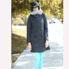 Hoodie gray wool coat/ Hoodie grey jacket /winter  by RenzRags, $128.00