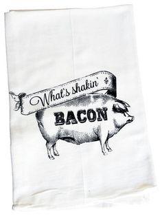 What's Shakin' Bacon farmhouse-dishtowels