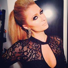 paris hilton makeup | Paris Hilton dramatic eye makeup.