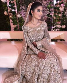 Thank you for the tag. You looked absolutely stunning on your big day. Asian Bridal Dresses, Bridal Outfits, Indian Dresses, Indian Outfits, Indian Clothes, Bridal Looks, Bridal Style, Desi Wedding, Wedding Wear